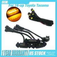 Pack of 4 Smoked Front Grille LED Amber Light for 2016-2019 Tacoma w/ Pro Grille
