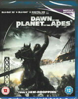 Dawn of the Planet of the Apes - 3D Blu Ray + Blu Ray + Digital HD - Brand New