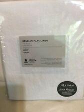 West Elm Belgian Flax Linen White Curtain 48x108L New Cotton Lined