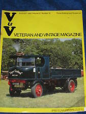 VETERAN AND VINTAGE MAGAZINE AUGUST 1968 VOLUME 12 NUMBER 12.