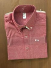 NWT American Apparel XXS Unisex Chambray Long Sleeve Button-Up Shirt Red