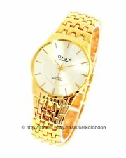Omax Gents Pearl Dial Watch, Gold Finish, Seiko (Japan) Movt.