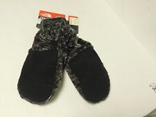 North Face womans DENALI THERMAL mitts in blaxk marble print medium NWT