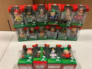 Christmas Peanuts Mini Clip-On Mini Bobblehead 16 Figure Bundle #E5