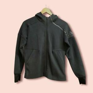 Adidas Black Hoodie Hooded Jacket Size 11- 12 years