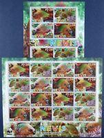 Nevis 2007 WWF Fishes Fische Poissons Pesci 2208-2211 Kleinbögen (2) MNH