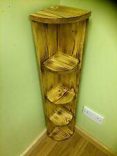 Chunky Wooden Rustic Vintage HANDMADE CORNER SHELF UNIT