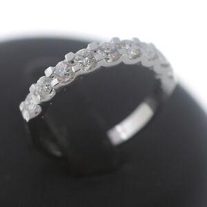 Brillant Memory Ring 585 Gold Diamant 0,79 Ct 14 Kt Weißgold Wert 1990,-