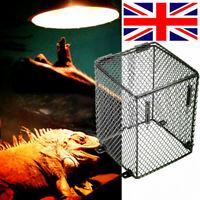 Reptile Basking Lamp Guard Bulb Cage Light Ceramic Vivarium Heat Safety Pet  ❤
