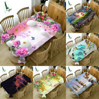 Tablecloth mat 3D print Kitchen Dinner Table cover Decor Dust-proof Cloth 60CM