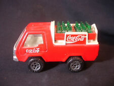 "Old Vtg Pressed Steel Buddy L Coca Cola Delivery Truck Toy 4 3/4"" x 2"""
