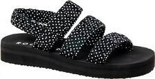 Rocket Dog MARNIA ADOT Ladies Cotton Slip On Open Toe Sandals Black Dots