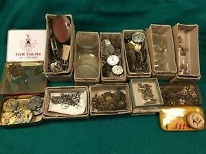 Vintage Wrist and Pocket Watch Movements, Faces, Gears, Cogs, Glasses, Parts etc