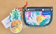 NWT LeSportsac RING COIN POUCH Hawaii Exclusive Uluwehi 7317 K605 Flowers