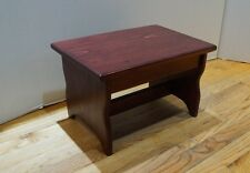 """10"""" tall 11x16 Handcrafted Heavy Duty Solid Wood Step Stool, Bedside, Pick Color"""