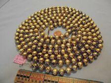 "Christmas Garland Mercury Glass Antique Gold 103"" Long 1/2"" Beads Ap14 Vintage"
