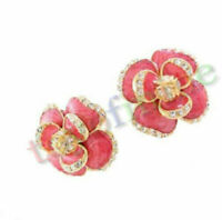 Corea gioielli di moda orecchini del diamante Cascading Flowers Orecchini
