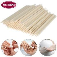 100/200PCS Cuticle Pusher Wood Sticks Nail Art Manicure Pedicure Tool Remover
