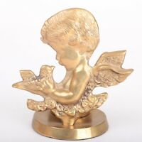 Angel Cherub Brass Votive Candle Holder