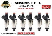 Set/6 Reman Bosch 4-HOLE UPGRADE Fuel Injectors for 89-95 Toyota 4Runner 3.0L V6