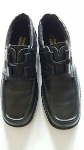 Wrangler Mens Shoes 10 Black Leather Chunky Lace Up School Work Smart Casual