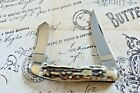 German Fight'n Rooster Solingen Celebrated Genuine Stag 2 Blade Sowbelly Knife