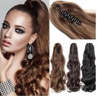 Clip In Pony Tail Claw Clip On Ponytail As Human Piece Hair Extensions for Women