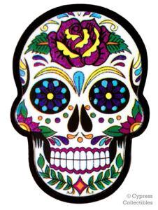 SUGAR SKULL ENAMEL LAPEL PIN DAY of the DEAD LA CALAVERA DIA DE MUERTOS TIE TACK