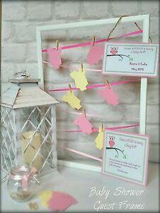 Baby Shower Guest Book Frame Die Cuts memo board baby girl baby boy