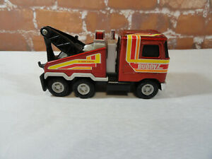 Vintage Buddy L Mack *HEAVY RESCUE 24 Hour Service* Die Cast Tow Truck~Mechanic