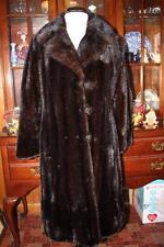 Gorgeous Vintage Knee Length Ranch MINK Fur Coat M 8/10