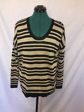 Country Road Black and gold striped top size S
