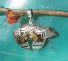 ciondolo orso orsetti HALS D indiana argento sterling 925 placcato oro nero