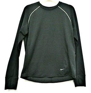 NIKE RUNNING LYOCELL TOP size M Black DRI-FIT Pocket Reflective T-shirt Sports