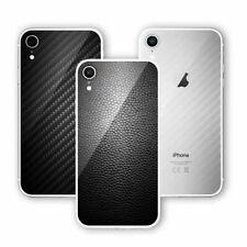 Smartphone Apple iPhone XR protectores a prueba de golpes trasero de la Etiqueta Engomada Del Vinilo De Lujo Cuero De Carbono