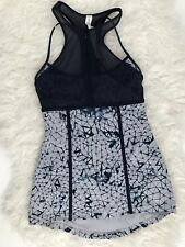 Lululemon Size 4 Pedal Pace Tank Top Star Crushed Silver Fox Deep Navy