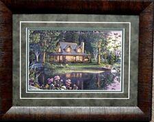 Kim Norlien Sweet Serenity Deer Lake Cabin  Print 23 x 8.5