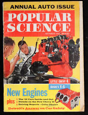 Popular Science Magazine October '61 Cars Space Boats Vintage tech diy details