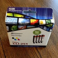 CLI-251 Canon new Black,cyan,magenta & yellow inkjet Datsproducts Free US S/H