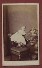 J K Shaw, 103 St Johns Wood Terrace, Girl on Chair     CDV photographs  da21c