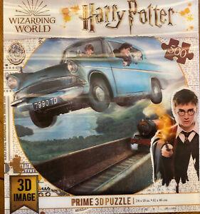 Harry Potter 3D Prime Puzzle 500 Pcs Ford Car Wizarding World NIP Train