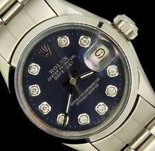 Rolex Ladies Datejust Oyster Steel Diamond Dial Watch