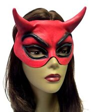 Red Devil Latex Half Mask Halloween Costume Accessory Prop Satan Lucipher New