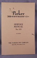 Parker Vacumatic  Service Manuel--reproduction