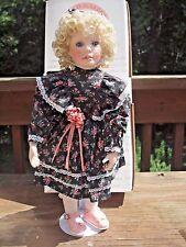 "Laura Cobabe World Gallery Porcelain Doll Erika 17"" COA Box"