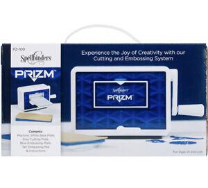 Spellbinders Prizm Mini Die Cutting & Embossing Machine System NIB PZ-100 plates