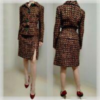 AUTH VINTAGE Dolce&Gabbana boucle suit skirt&jacket 40