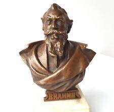 Bronze Büste BRAHMS Marmorsockel um 1890 – 1900 AL1145
