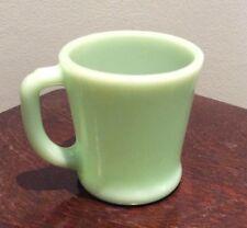 Vintage Anchor Hocking Fire King Jadeite Green D Handle Coffee Mug