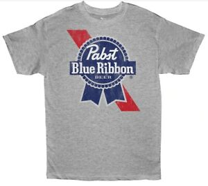 Official Licensed Product Pabst Blue Ribbon PBR Beer Adult Men's T-Shirt BNWT